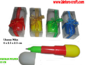 souvenir ballpoint pulpen kapsul mika murah