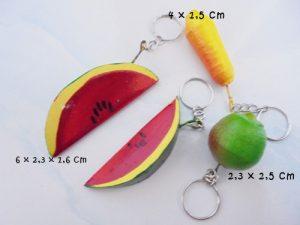 souvenir buah gantungan kunci