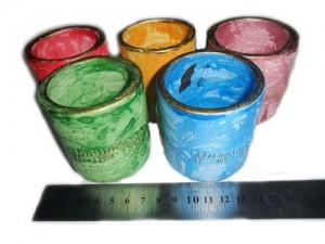 souvenir gelas warna unik cantik
