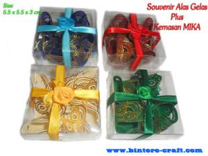 souvenir tatakan gelas cantik lucu murah meriah