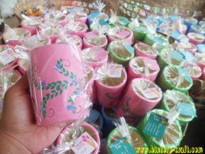 souvenir gelas bahan tanah liat