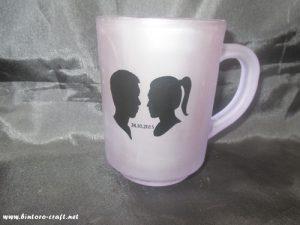 souvenir gelas frost ungu