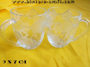 souvenir gelas kaca bola murah