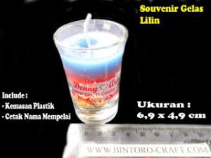 souvenir gelas lilin murah di jogja