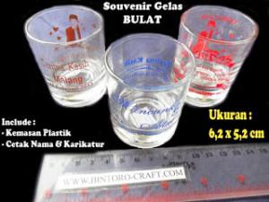 souvenir gelas sloki kecil mini murah meriah