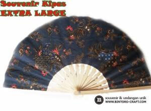 souvenir kipas batik besar 21 cm murah