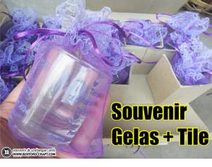 souvenir pernikahan gelas sloki murah meriah