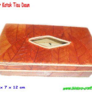Souvenir Tempat Tissue Daun