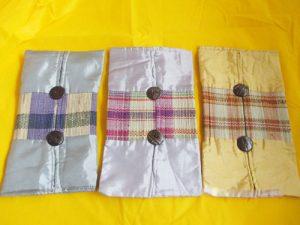 souvenir tempat tissue  tikar satin murah
