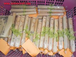 undangan bambu gulung murah meriah