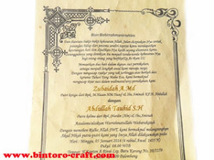 undangan gulung murah