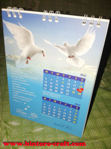 undangan kalender spiral murah