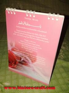 undangan pernikahan kalender spiral harga murah